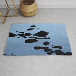 Rocky Seashore Evening Seascape Rug