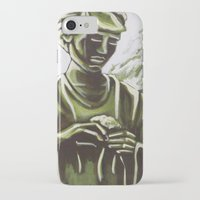 real madrid iPhone & iPod Cases featuring Statue in Palace Real Gardens, Madrid, Spain by Laura Teed