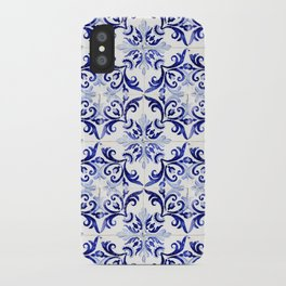 Azulejo V - Portuguese hand painted tiles iPhone Case