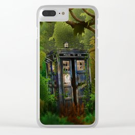 Abandoned Tardis doctor who in deep jungle iPhone 4 4s 5 5s 5c, ipod, ipad, pillow case and tshirt Clear iPhone Case