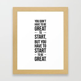 Start! Framed Art Print