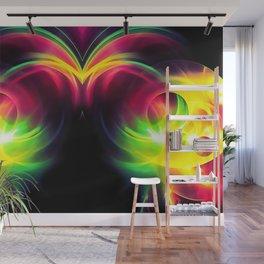 abstract fractals mirrored reacstd Wall Mural
