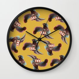 Distracted Wolf Wall Clock