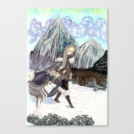 Goddess of Winter and Hunt Canvas Print