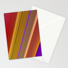 Colorful stripes Stationery Cards