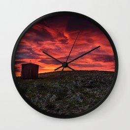 Fiery Skies Wall Clock