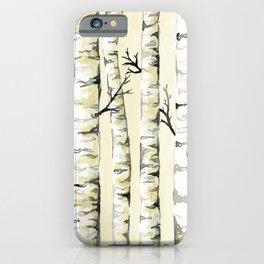 Silver Birch iPhone Case