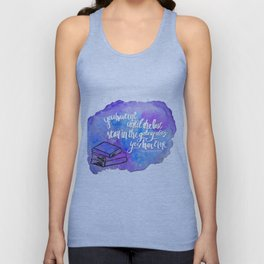 "illuminae ""you have me"" watercolor bubble galaxy Unisex Tank Top"
