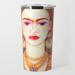 My other Frida Kahlo with butterflies Travel Mug