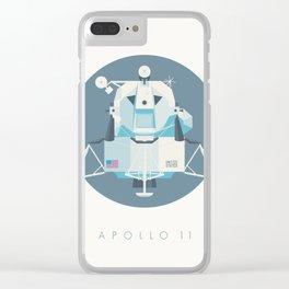Apollo 11 Lunar Lander Module - Text Slate Clear iPhone Case