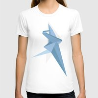 crane T-shirts featuring Crane by Kelly Stahley Designs