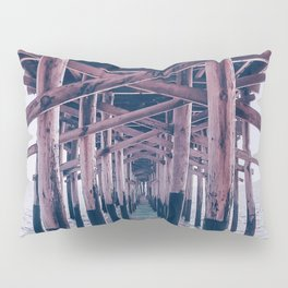 Balboa Pier Print {2 of 3} | Newport Beach Ocean Photography Magenta Summer Sun Wave Art Pillow Sham