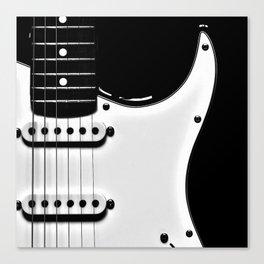 Stratocaster Black Body Canvas Print