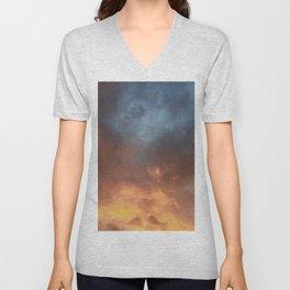 cloudy Unisex V-Neck