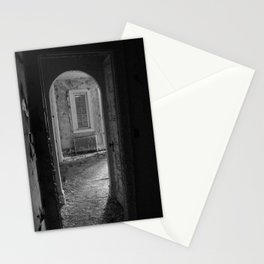 Black and White - Sometimes I Wake in Strange Places, urban exploration Stationery Cards