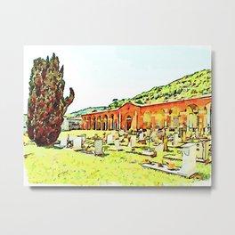Fognano: cipresses and tombs Metal Print