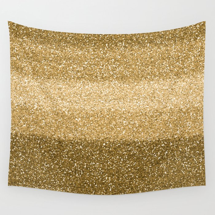 Glitter Glittery Copper Bronze Gold Wall Tapestry