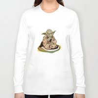 yoda Long Sleeve T-shirts featuring Yoda by Rocío Gómez