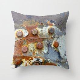 Rusty Bolts Throw Pillow