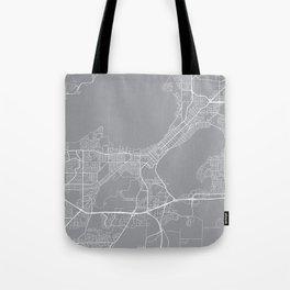 Madison Map, Wisconsin USA - Pewter Tote Bag