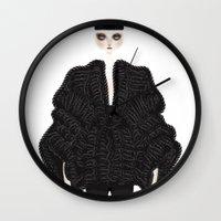 goth Wall Clocks featuring Elegant goth by \nicolafleming