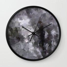 Black and White Waterfall Wall Clock