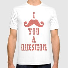 I mustache you a question Mens Fitted Tee White MEDIUM