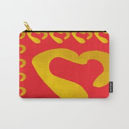 Gold Hearts on Red Carry-All Pouch