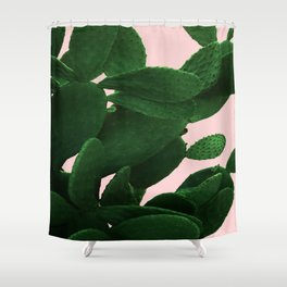 Cactus On Pink Shower Curtain
