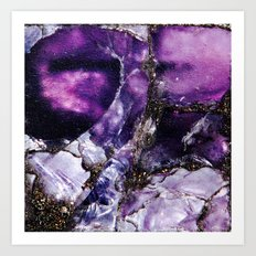 PURPLE AMETHYST QUARTZ MACRO Art Print