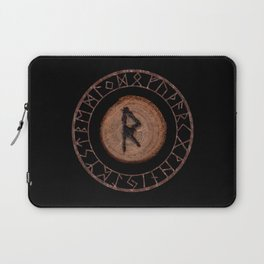 Raidho Elder Futhark Rune Travel, journey, vacation, relocation, evolution, change of place Laptop Sleeve