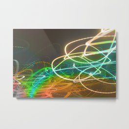 Rainbow Light Graffiti Metal Print
