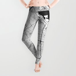 Buenos Aires City Map Gray Leggings