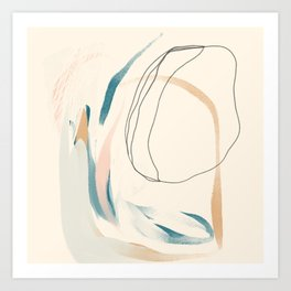 Abstract Lines On Cream. Art Print
