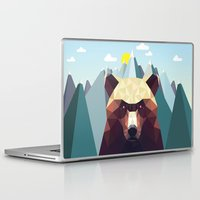 mountain Laptop & iPad Skins featuring Bear Mountain  by Davies Babies