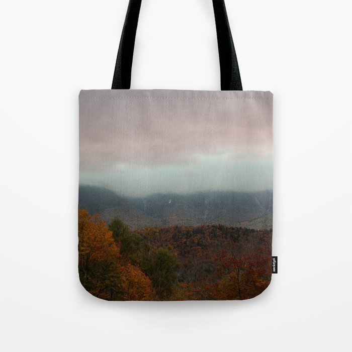 Fog Rolling Over The Hills Tote Bag