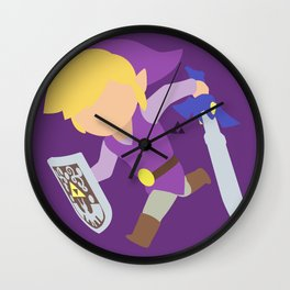 Toon Link(Smash)Purple Wall Clock