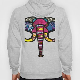 Purple Floral Elephant Hoody