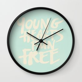 young hearts run free Wall Clock