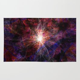 A light in the darkness Rug