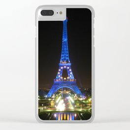 Scenic Eiffel Tower at Night Clear iPhone Case