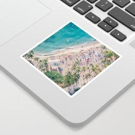 Waikiki Beach Sticker