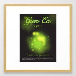 Green Eco Framed Art Print