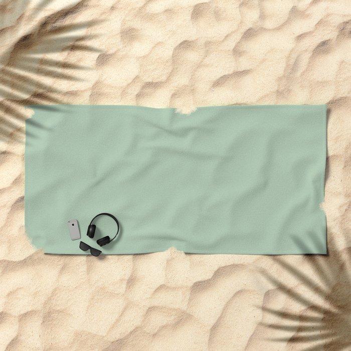 Simply Pastel Cactus Green Beach Towel