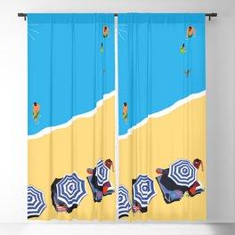 Beach Day IV Blackout Curtain
