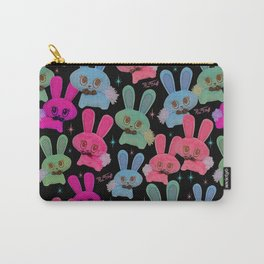 Cute Bunnies on Black Carry-All Pouch