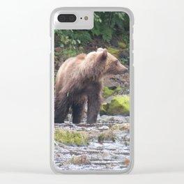 Curious Bear Clear iPhone Case