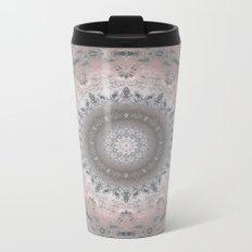 Grey-pink kaleidoscope Metal Travel Mug