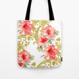 Scroll Azelea Tote Bag