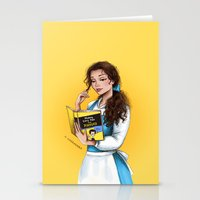 belle Stationery Cards featuring Belle by C. Cassandra